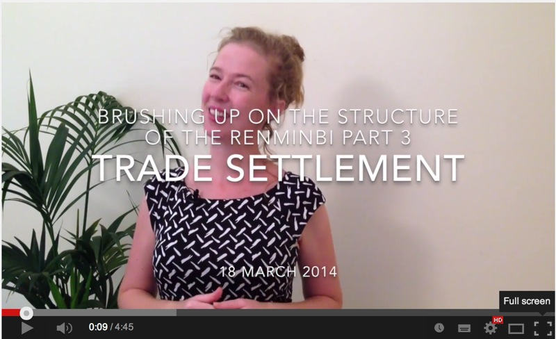 Renminbi Trade Settlement
