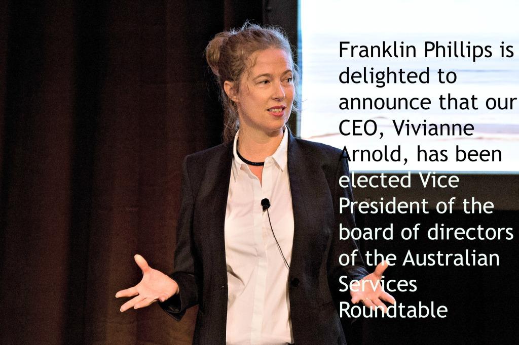 Australian Services Roundtable Vice President Vivianne Arnold Franklin Phillips